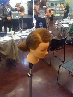 Long Hairdressing Seminar at KMS California Academy Santa Monica