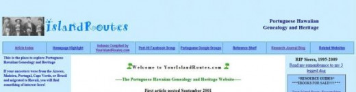 The homepage of yourislandroutes.com