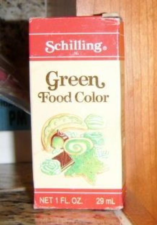 Regular ol' food coloring makes the beautiful shades