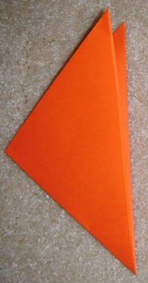 Fold it into a triangle again