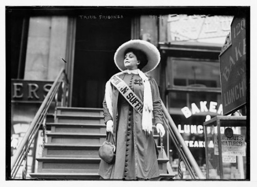 Trixie Friganza, Entertainer and Suffragette, New York, ca. 1908