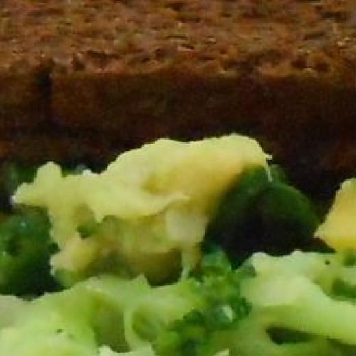 Closeup of sandwich mixture