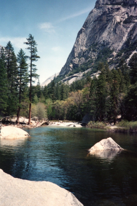 The Merced River is at it's peak this time of year.