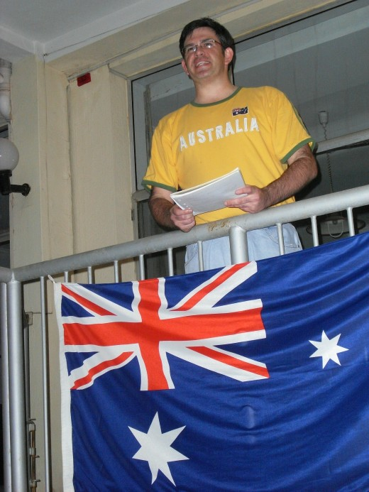 Anzac Day celebrated by the Aussies and Kiwis here in Nanjing.