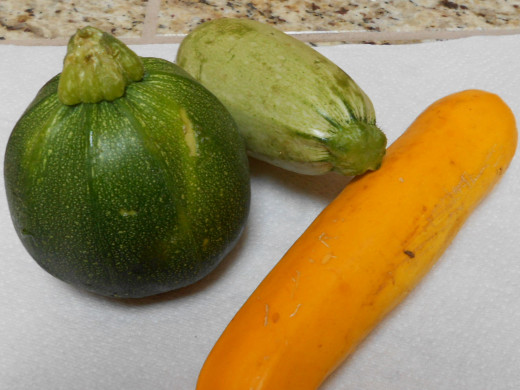 Diffrent types of squash