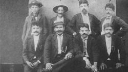 My great grandfather, Theodoro Pacheco (top row on the right), was smuggled from Hawaii