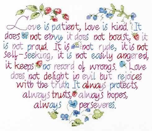Heart shaped cross stitch pattern