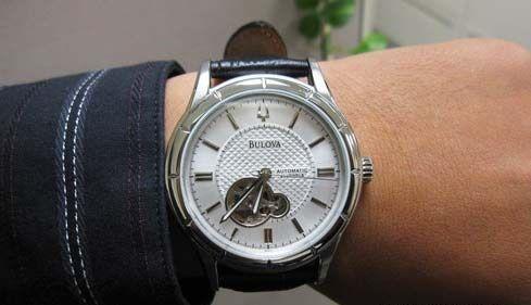 big wristwatch by bulova