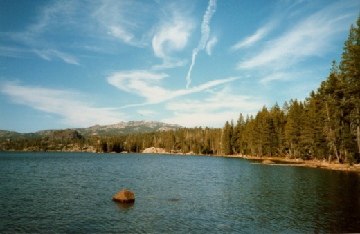 A lake in the Sierra Nevadas