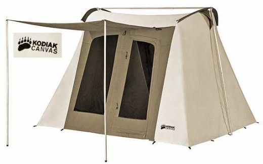 6 person canvas tent by Kodiak