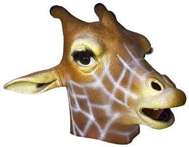 Funny giraffe latex head mask