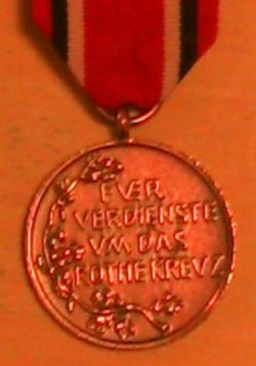 Reverse of Prussian 3cl Red Cross Medal