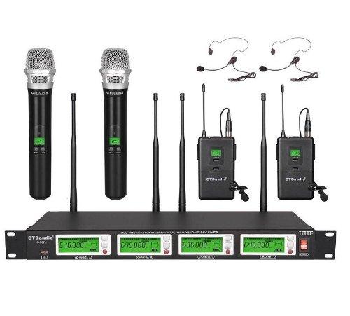 Diversity UHF lapel microphones