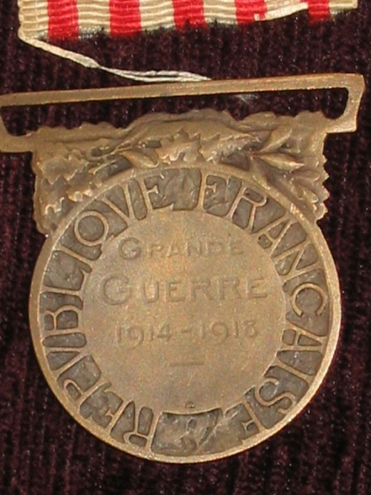French 1914-18 Commemorative Medal - reverse