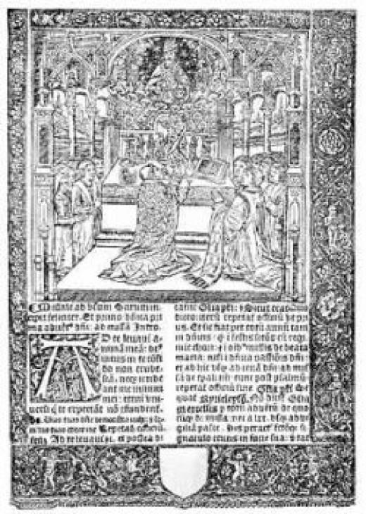 Illustration from a 15-16th century Sarum Missal