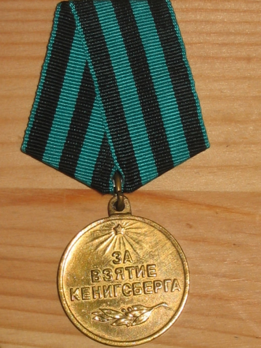 Capture of Konigsberg Medal - USSR