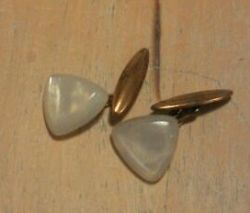 Vintage imitation Mother of Pearl cufflinks