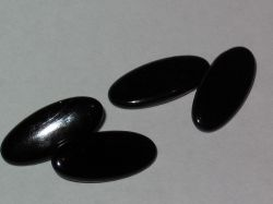Vintage black celluloid ovak cufflinks
