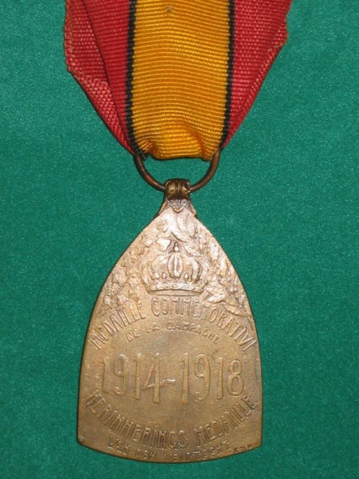 WWI Commemorative War Medal - Belgium