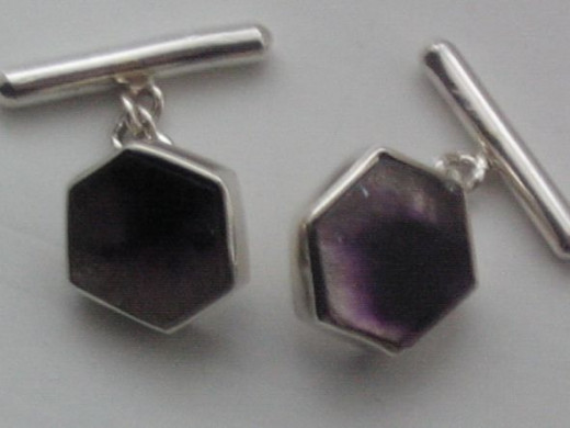 Silver and Blue John Amethyst