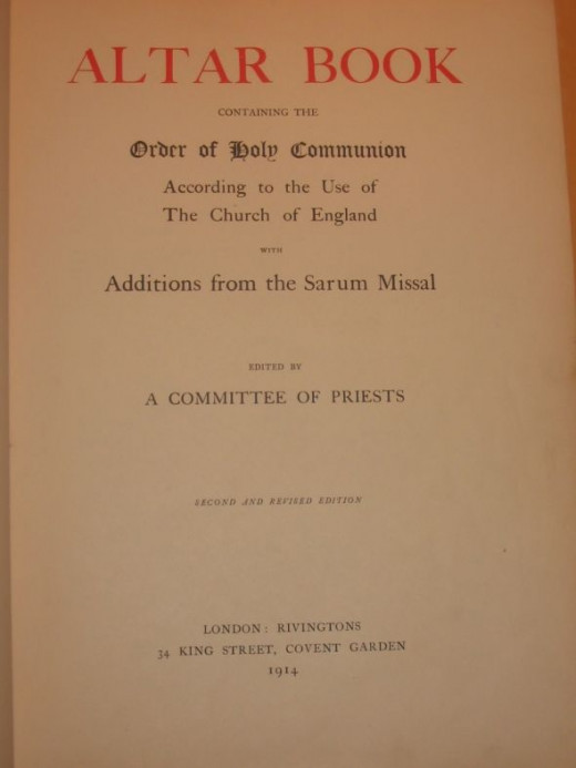 Altar Book - Title Page