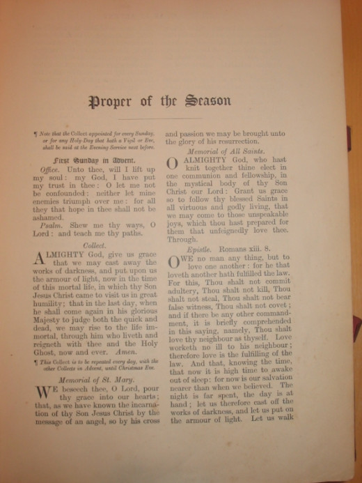 Altar Book - Proper of the Season