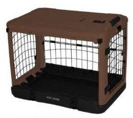The Other Door Deluxe Steel And Plastic Crate in Tan and Black
