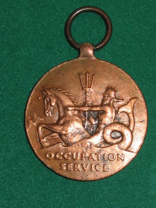 WWII US Marine Corps Occupation Service  Medal