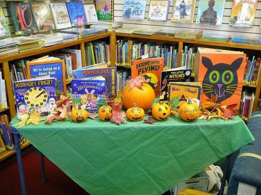 Halloween bookshop