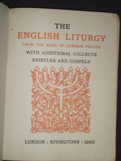 The English Liturgy - Title Page