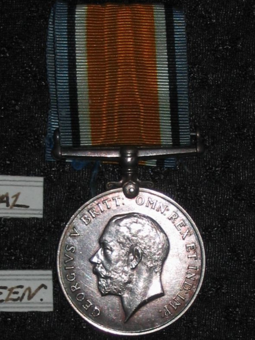WWI British War Medal - obverse