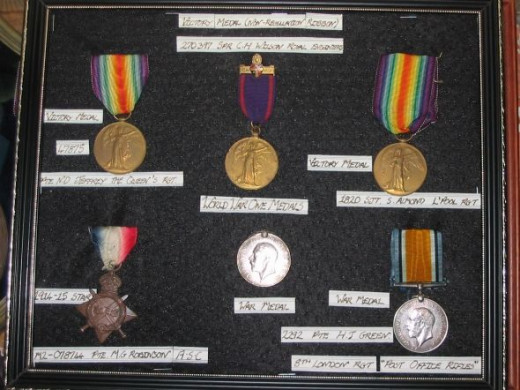 British WWI medal collection