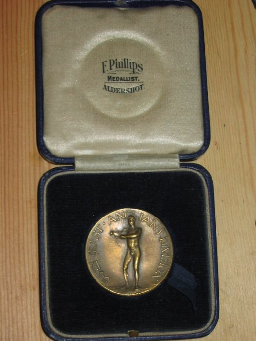 British military athletics medal - boxed