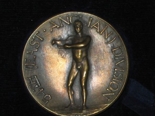 British military athletics medal - obverse