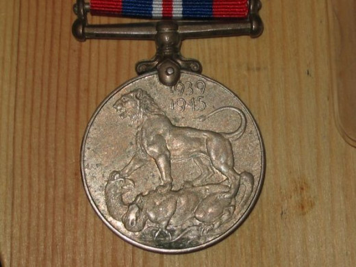 British 1939-45 War Medal, Indian issue, to a Havildar in the Patiala State Force (reverse)