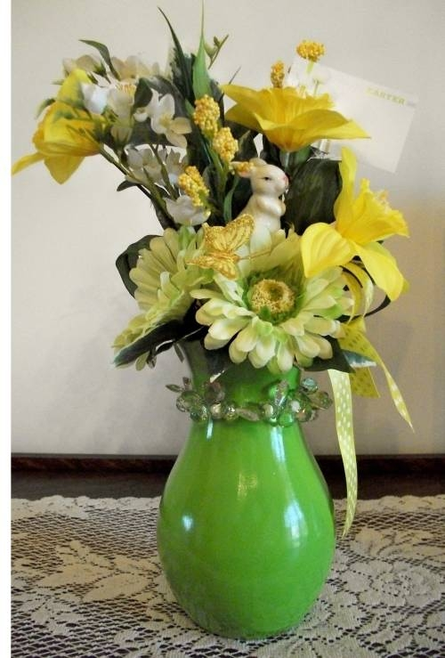 Easter/Spring Daffodil and Daisy Vase Arrangement