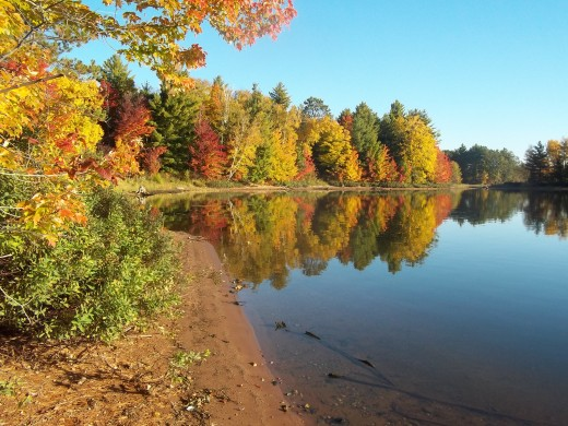 Fall splendor on a northern Wisconsin lake.