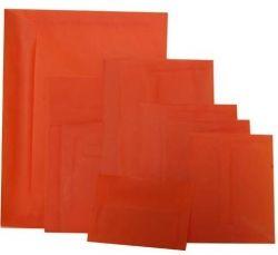 6x6 Square Orange Translucent Envelopes - Pack of 1000