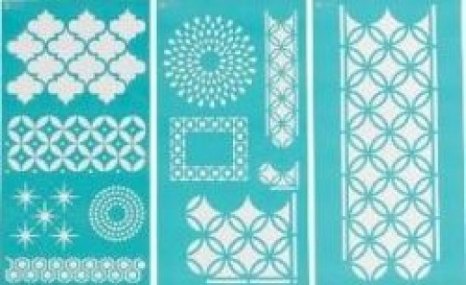 Martha Stewart 32266 Large Stencil Arabesque