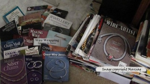 jewelry books and magazines I have