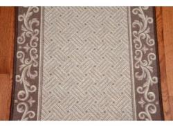 Caramel Scroll Border Carpet Runner
