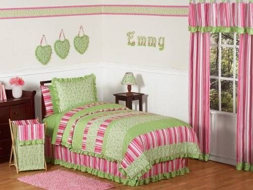 Pink and Green Olivia Girls Kids & Teen Bedding
