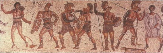 gladiators wearing sandals in ancient times