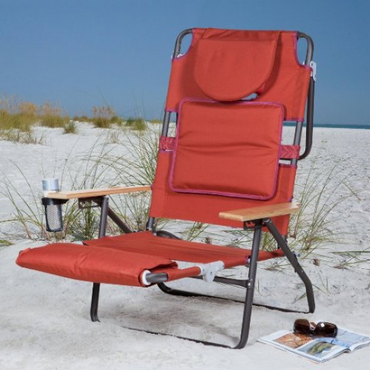 Deluxe Padded Ostrich Sport 3-N-1 Beach Chair