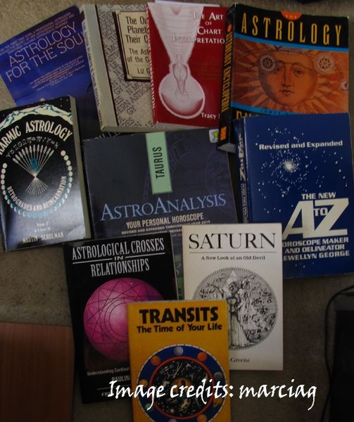 some of my astrology books