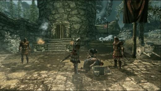 opening scene in Skyrim