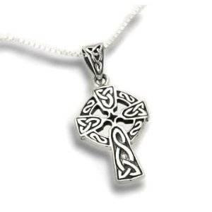 Celtic Knot Sun Cross Sterling Silver Pendant