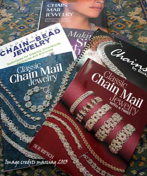 some of my chain mail books