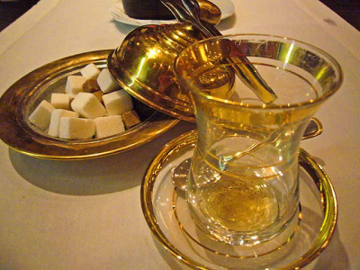 How They Serve Tea In Istanbul