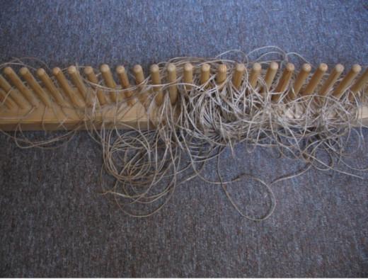 My peg loom.